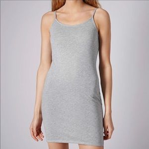 New Topshop Heather Gray Jersey Dress 12